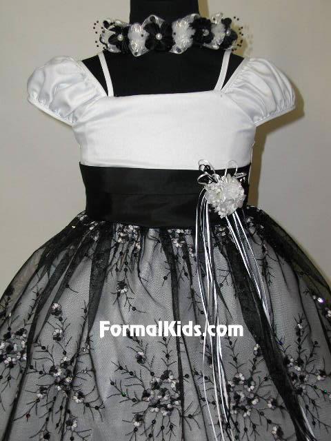 Black and white flower girl dress — img 9