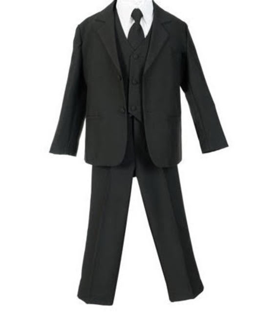 cfdcdfdcc Infant & Boys Suit, Black, White, Ivory, Brown, Navy, CS11