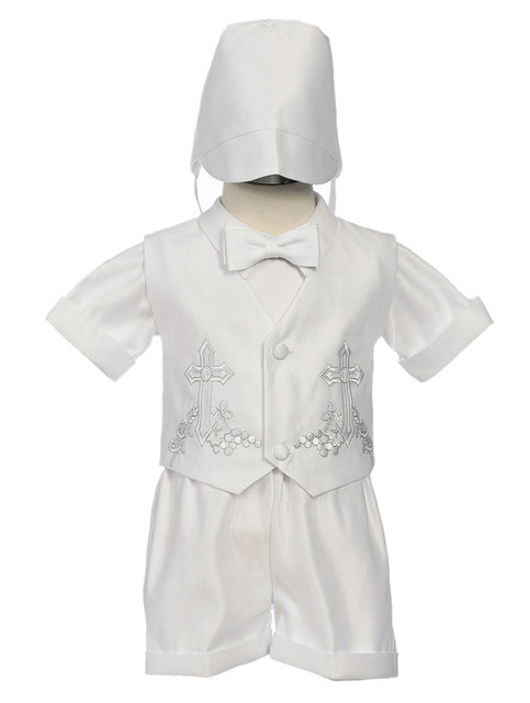 Cross Accented Boys Christening Set, CO2