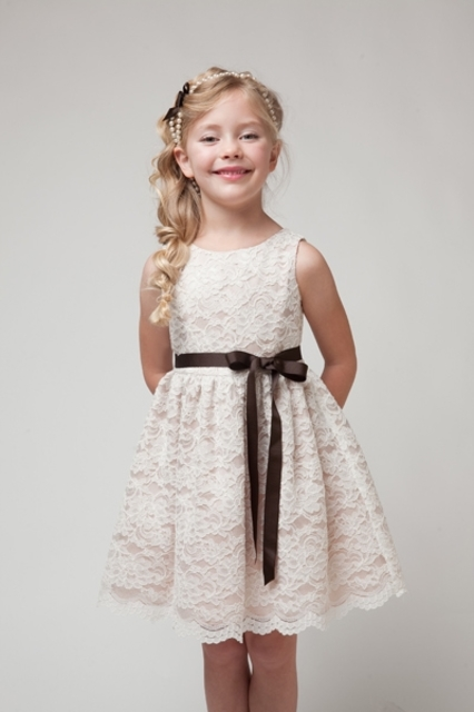 Lace Flower Girl Dress K227