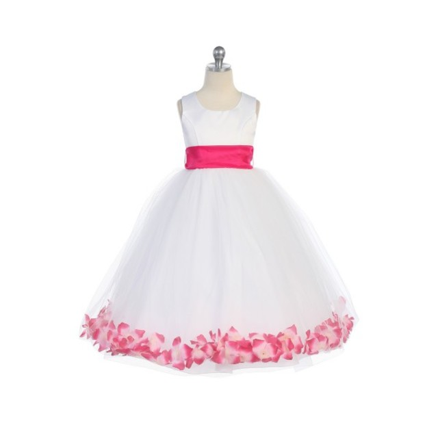 Flower Petal Child Princess Gown, J2100