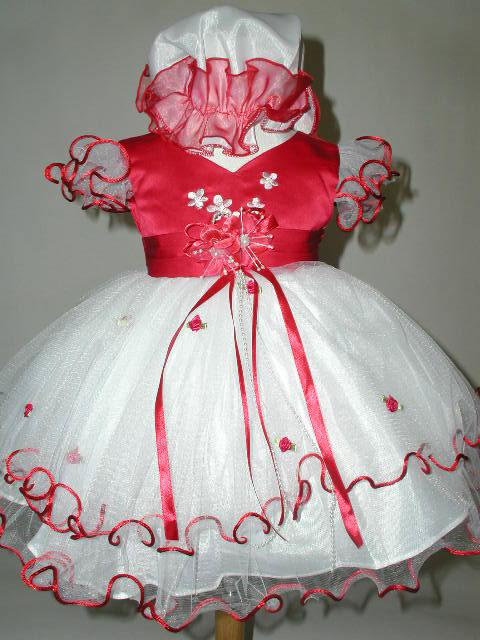 Satin & Tulle Multi Layer Infant Dress, J277