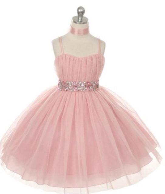 Flower Girl Dress, J3422 Blush