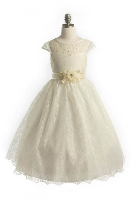 Lace Flower Girl Dress, J346