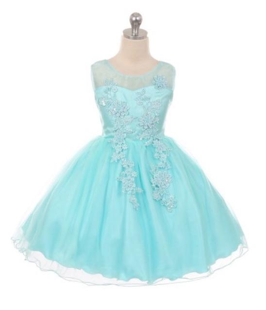 Lace Short Pageant Dress, J360