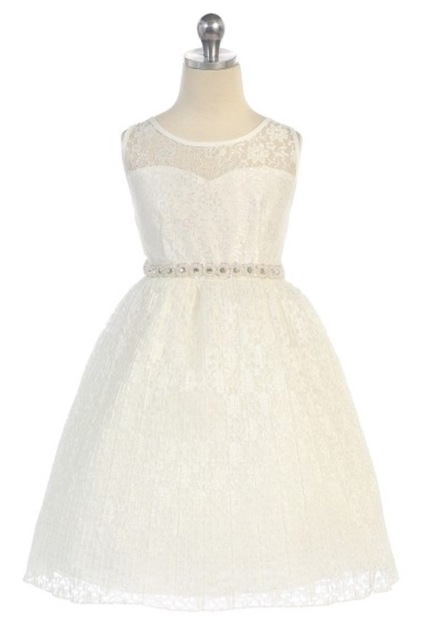 Lace Flower Girl Dres J362