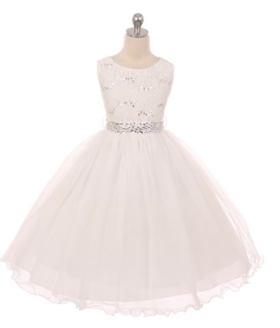 Lace Flowergirl Dress J367