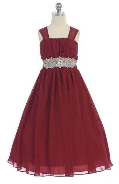 Chiffon Flowergirl Dress J372
