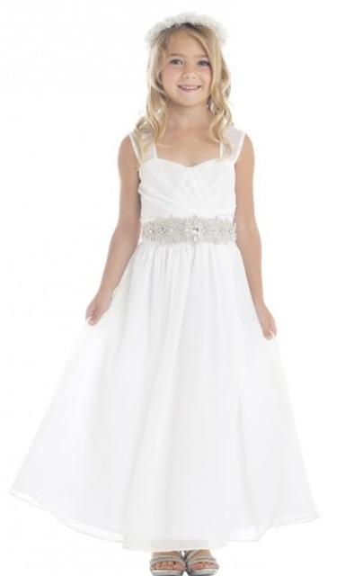 Beaded Chiffon Flowergirl Dress J372