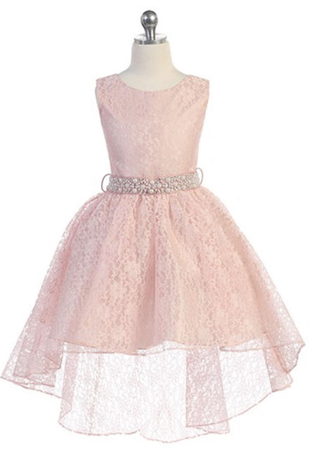 Child High Low Dress, J374