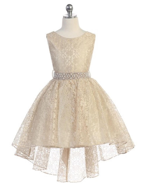 High Low Flower Girl Dress, J374