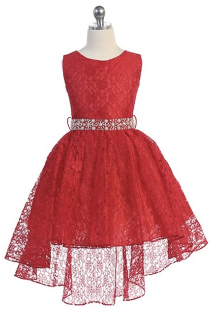 Child High Low Dress, J374