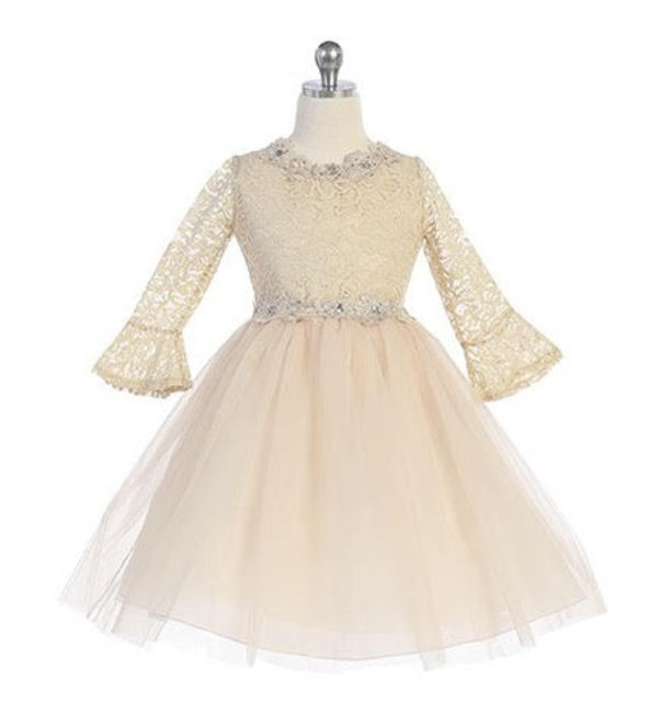 3/4 Sleeve Flowergirl Dress J3759