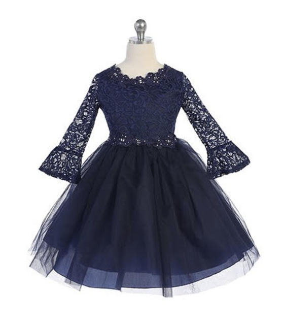 3/4 Sleeve Flowergirl Dress J3759