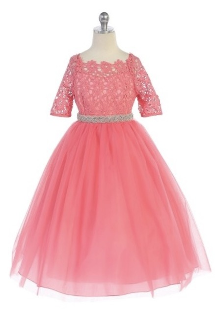 Lace & Tulle Girl Pageant Dress J3794