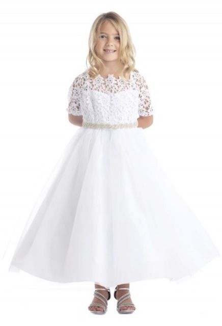 Lace & Tulle Flowergirl Dress J3794
