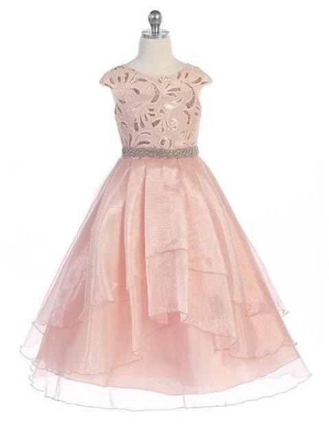 Beaded Girl Pageant Dress J3811