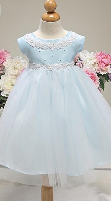 Satin & Tulle Infant Dress K12