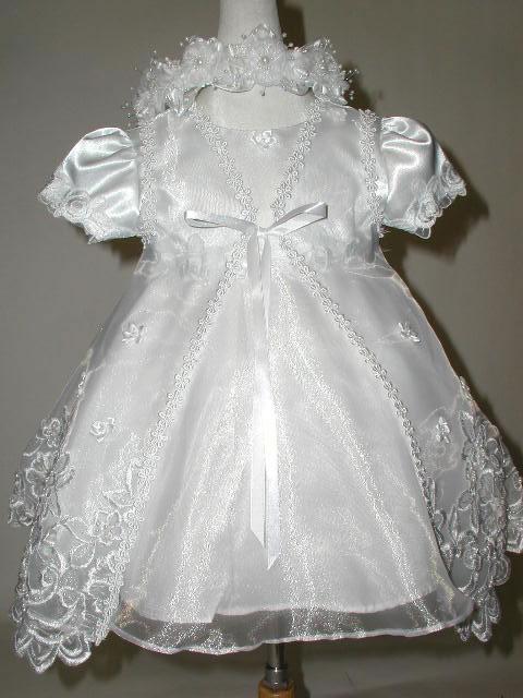 Beaded Christening Dress w/ Bolero, K4000