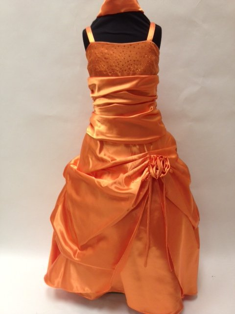 Satin Pickup Gown w/Rhinestone, KL5656