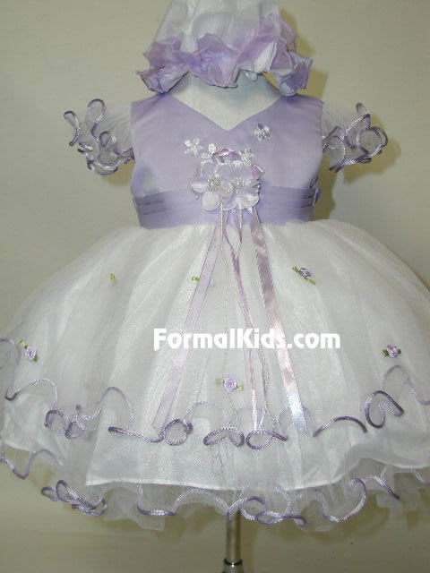 Tulle & Satin Layered Dress, J277