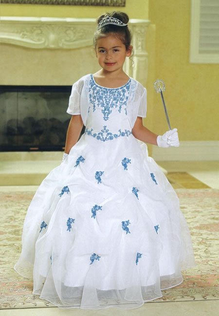 Organza Pickup Child Gown, MB601