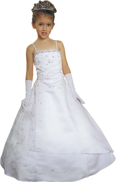 Beaded  Child A-Line Gown, MB617