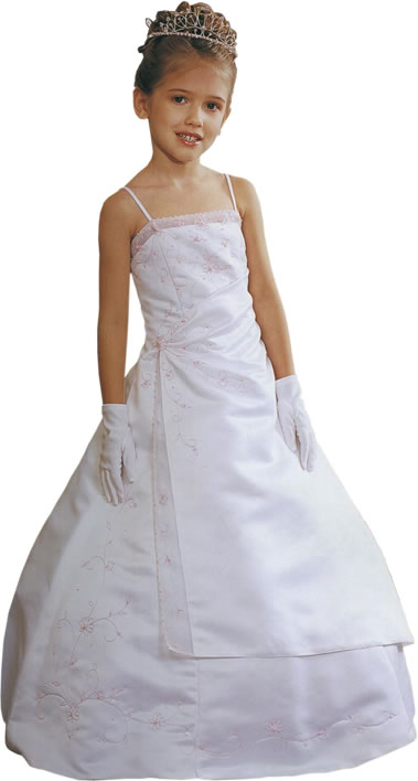 Beaded A-Line Child Formal, MB617