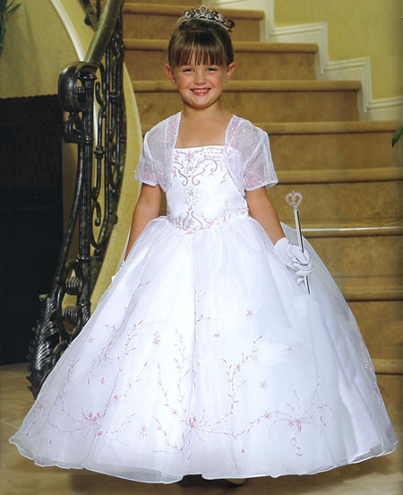Chiffon Embroidered Princess Gown, MB802