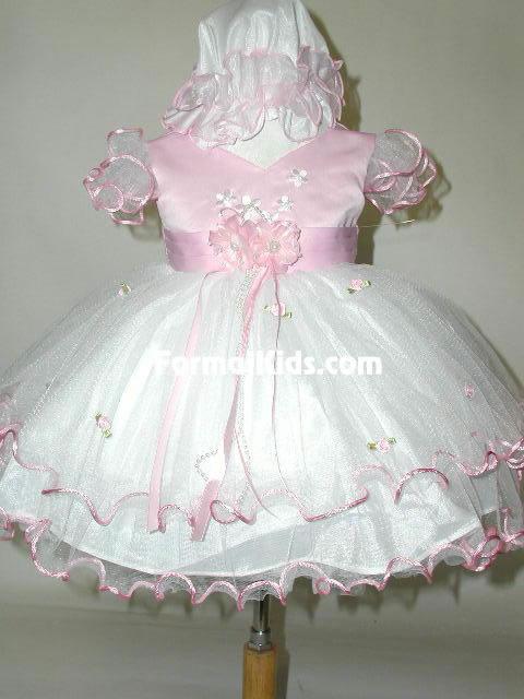 Baby Satin & Tulle Dress, J277
