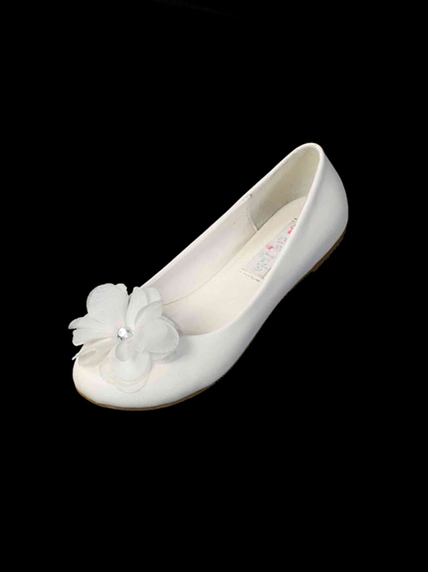 Child Ballet Style Shoe w/Flower, S14