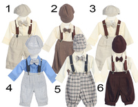Boys Formal Linen Outfit w/Suspenders