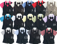 Boys Formal Vest Set w/Shorts, V22