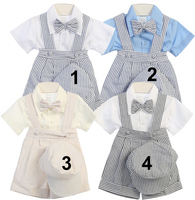 Boys Formal Suspender Short Outfit, C115