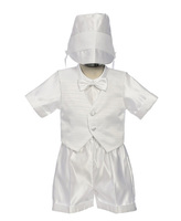 Boys Baptismal Outfit, Boys White Formal, CO408