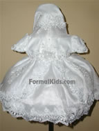 White Baby Dress w/ Train, K1300
