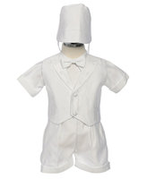 Embroidered Boys Christening Set, CO23