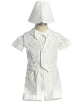 Boys Christening Short Set, CO422