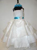 Organza Layered Dress w/ Sash, J1900