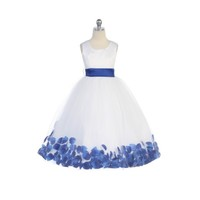Flower Petal Flower Girl Gown, J2100