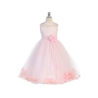 Pink Flower Girl Petal Dress, J2925