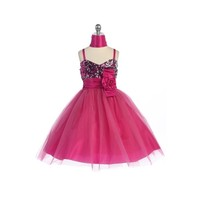 Sequined & Tulle Child Formal, J330