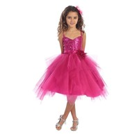 Sequined & Tulle Child Pageant Dress, J333