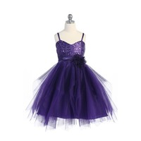 Sequined & Tulle Pageant Dress, J333