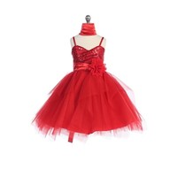Sequined Child Pageant Dress, J333