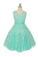 J3434, Lace Flowergirl Dress