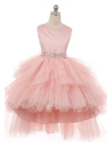 High Low Tulle Pageant Dress, J3717
