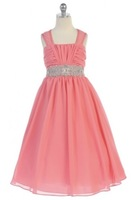 Chiffon Girls Pageant Dress, J372