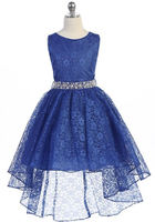 High Low Flowergirl Dress, J374