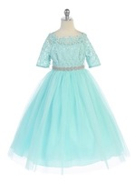 Lace & Tulle Girls Formal Dress J3794